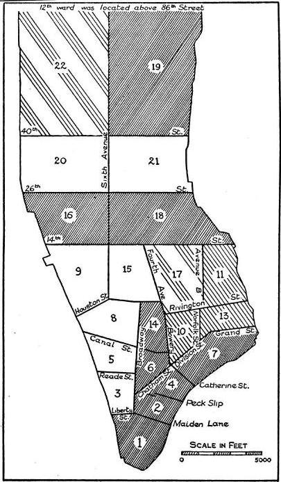 New York Manhattan Sectors Population Amp Density 18001910